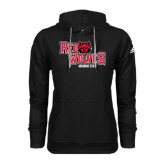 Adidas Climawarm Black Team Issue Hoodie-Red Wolves Stacked Head Centered