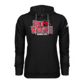 Adidas Climawarm Black Team Issue Hoodie-Red Wolves Stacked Head on Right