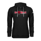Adidas Climawarm Black Team Issue Hoodie-Red Wolves w/Red Wolf Head Centered