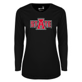 Ladies Syntrel Performance Black Longsleeve Shirt-A State
