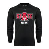 Under Armour Black Long Sleeve Tech Tee-Alumni