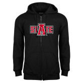 Black Fleece Full Zip Hood-A State