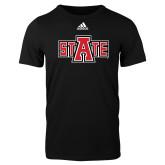 Adidas Black Logo T Shirt-A State