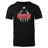 Adidas Black Logo T Shirt-Red Wolves Football Adidas