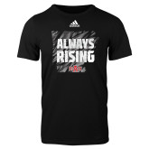 Adidas Black Logo T Shirt-Always Rising Adidas Logo