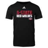 Adidas Black Logo T Shirt-A-State Adidas Logo