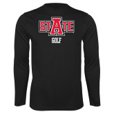Performance Black Longsleeve Shirt-Golf
