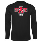 Syntrel Performance Black Longsleeve Shirt-Tennis