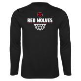 Syntrel Performance Black Longsleeve Shirt-Basketball Sharp Net