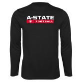Syntrel Performance Black Longsleeve Shirt-Football Bar