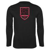Syntrel Performance Black Longsleeve Shirt-Soccer Shield