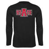 Performance Black Longsleeve Shirt-A State