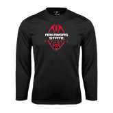 Syntrel Performance Black Longsleeve Shirt-Tall Football Design