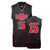 Replica Black Adult Basketball Jersey-#15