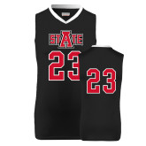 Replica Black Adult Basketball Jersey-A State Jersey Decal