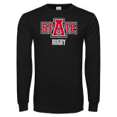 Black Long Sleeve TShirt-Rugby