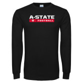 Black Long Sleeve TShirt-Football Bar