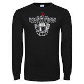 Black Long Sleeve T Shirt-Camellia Bowl Face Mask Design