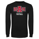 Black Long Sleeve T Shirt-Football