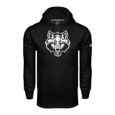 Under Armour Black Performance Sweats Team Hood-Red Wolf Head