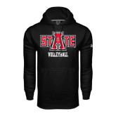 Under Armour Black Performance Sweats Team Hood-Volleyball