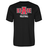Performance Black Tee-Volleyball