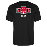 Syntrel Performance Black Tee-Rugby