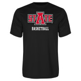 Performance Black Tee-Basketball