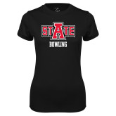 Ladies Syntrel Performance Black Tee-Bowling