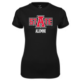 Ladies Syntrel Performance Black Tee-Alumni