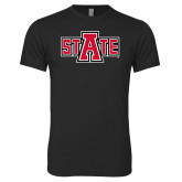 Next Level Vintage Black Tri Blend Crew-A State