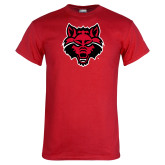 Red T Shirt-Red Wolf Head