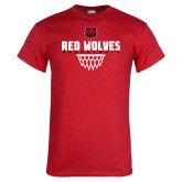 Red T Shirt-Basketball Sharp Net