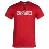 Red T Shirt-Basketball Stacked Text