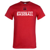 Red T Shirt-Baseball Stacked Text