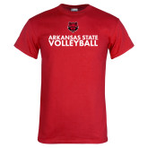 Red T Shirt-Volleyball Stacked Text