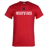 Red T Shirt-Track and Field Stacked Text