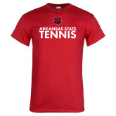Red T Shirt-Tennis Stacked Text