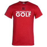 Red T Shirt-Golf Stacked Text