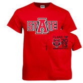 Red T Shirt-A State, Personalized Class Of Tee