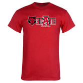 Red T Shirt-A State w Red Wolf