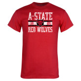 Red T Shirt-Distressed Block