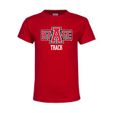 Youth Red T Shirt-Track