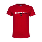 Youth Red T Shirt-Red Wolves Two Tone