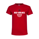 Youth Red T Shirt-Basketball Sharp Net
