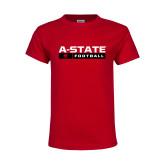 Youth Red T Shirt-Football Bar
