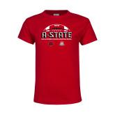 Youth Red T Shirt-AState 2018 Arizona Bowl