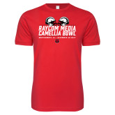 Next Level SoftStyle Red T Shirt-Camellia Bowl Helmets Design