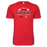 Next Level SoftStyle Red T Shirt-AState 2018 Arizona Bowl