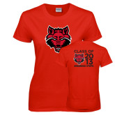 Ladies Red T Shirt-A State, Personalized Class Of Tee